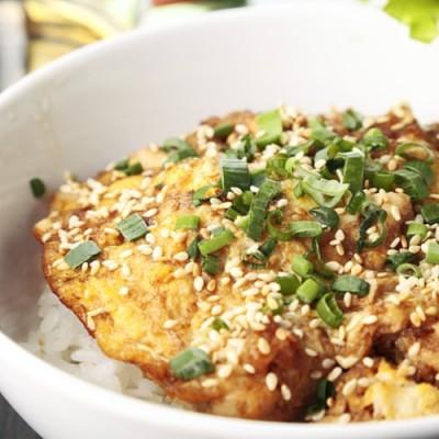 Рис оякодон с курицей